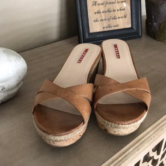 23599cb9ba0a Prada Sport Crossover Wedge Sandals. M 5ab55609daa8f6a65687cf85